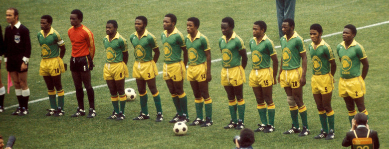 La maglia dello Zaire al Mondiale 1974